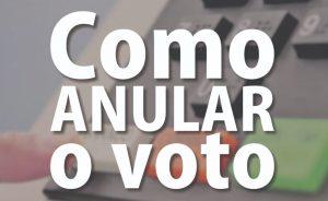 Como Anular o Voto
