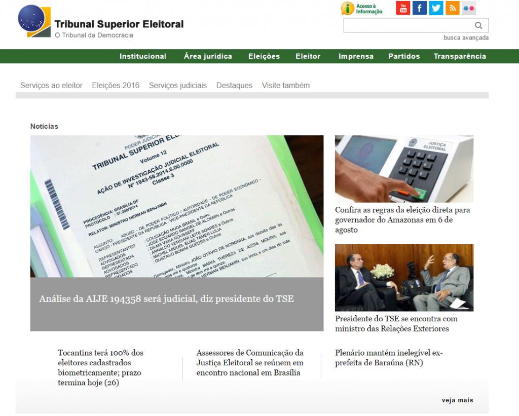 Portal Tribunal Eleitoral
